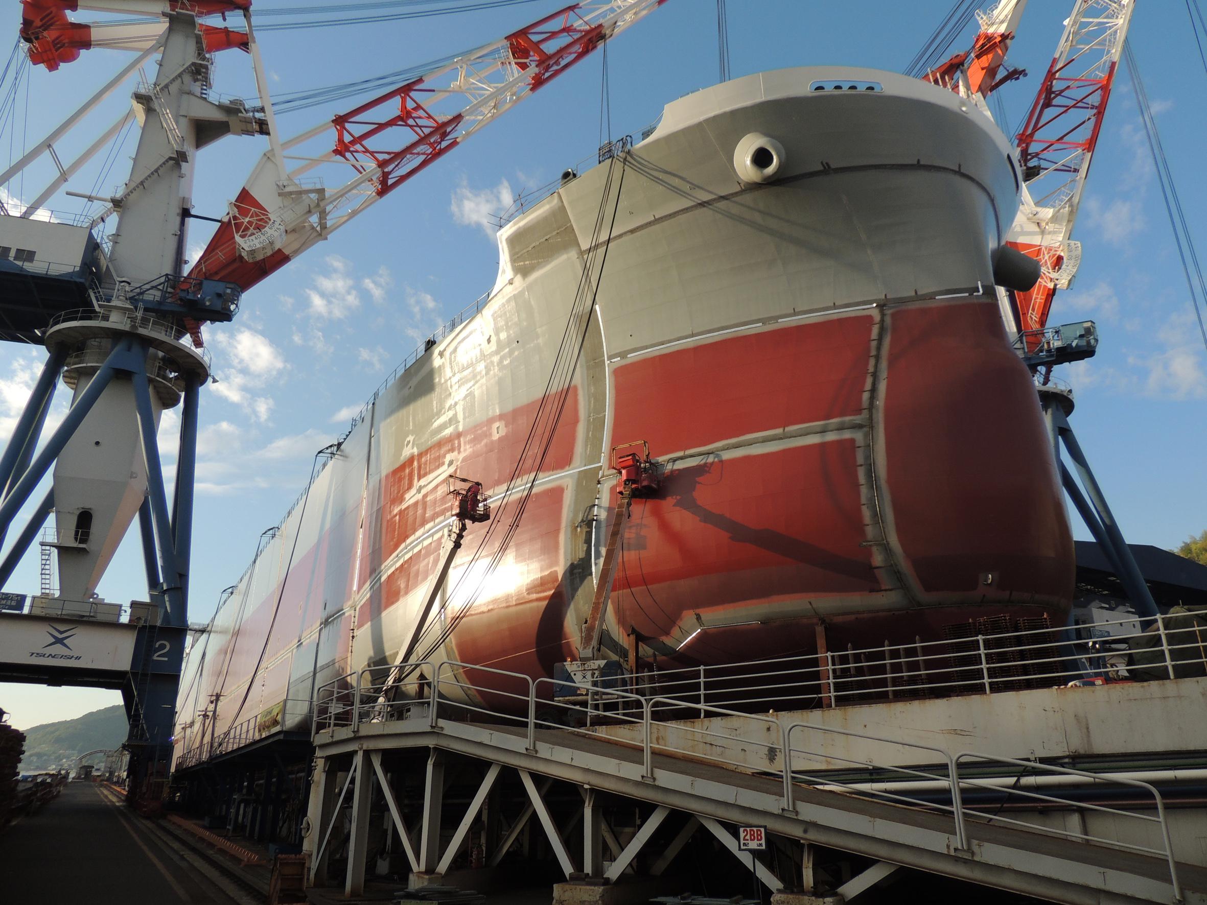 常石造船工場見学