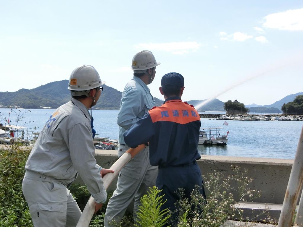 ツネイシクラフト&ファシリティーズ、2015年度の総合消防訓練を実施