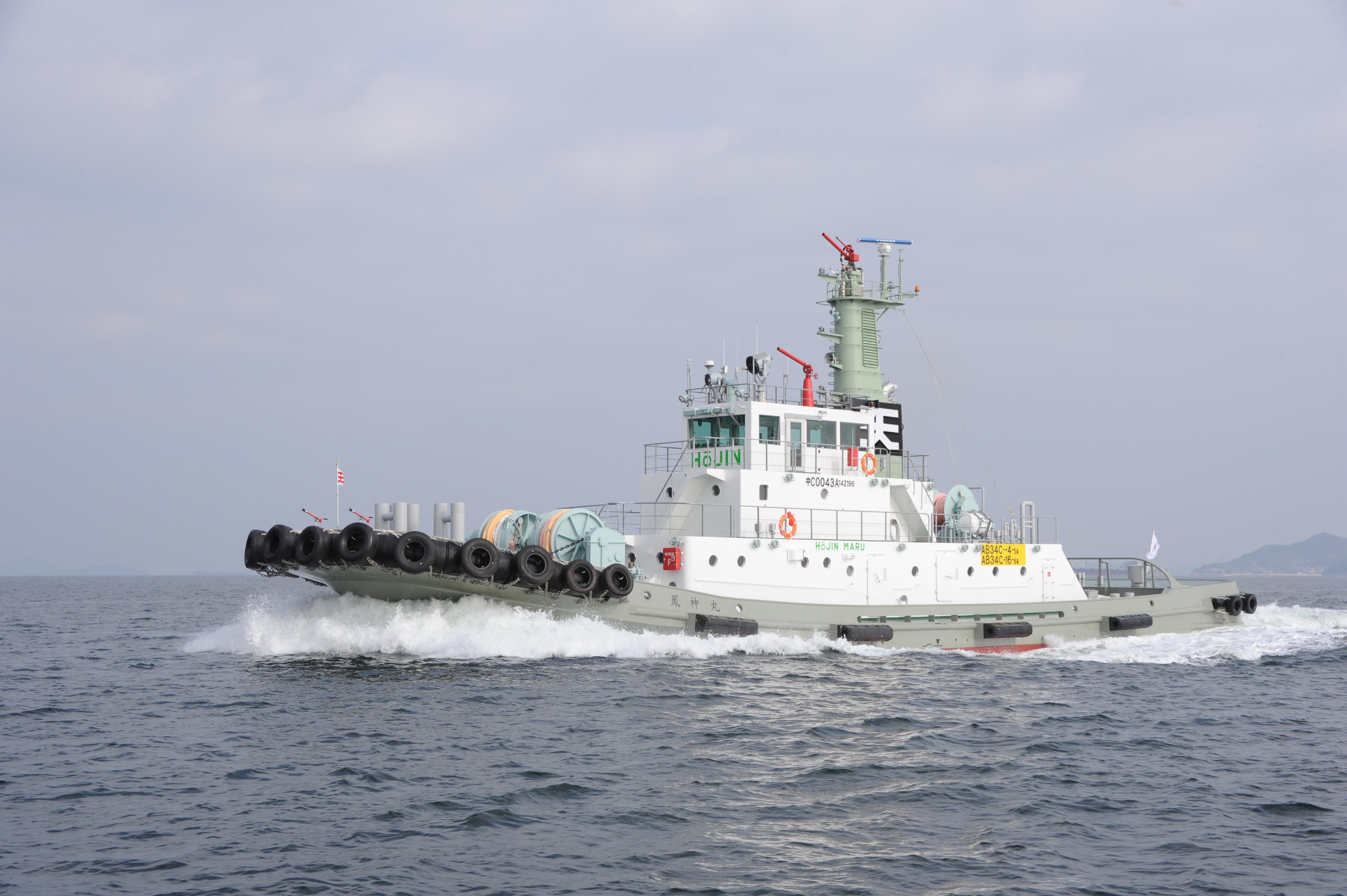 新造船タグボート「鳳神丸」を導入 曳航力と速力を高めた新船型