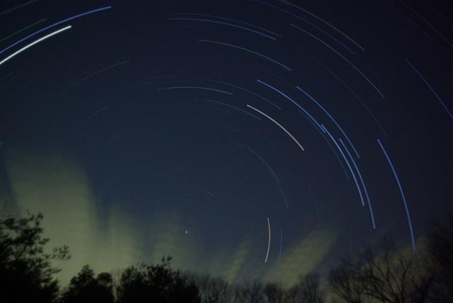 星の軌跡(イメージ)