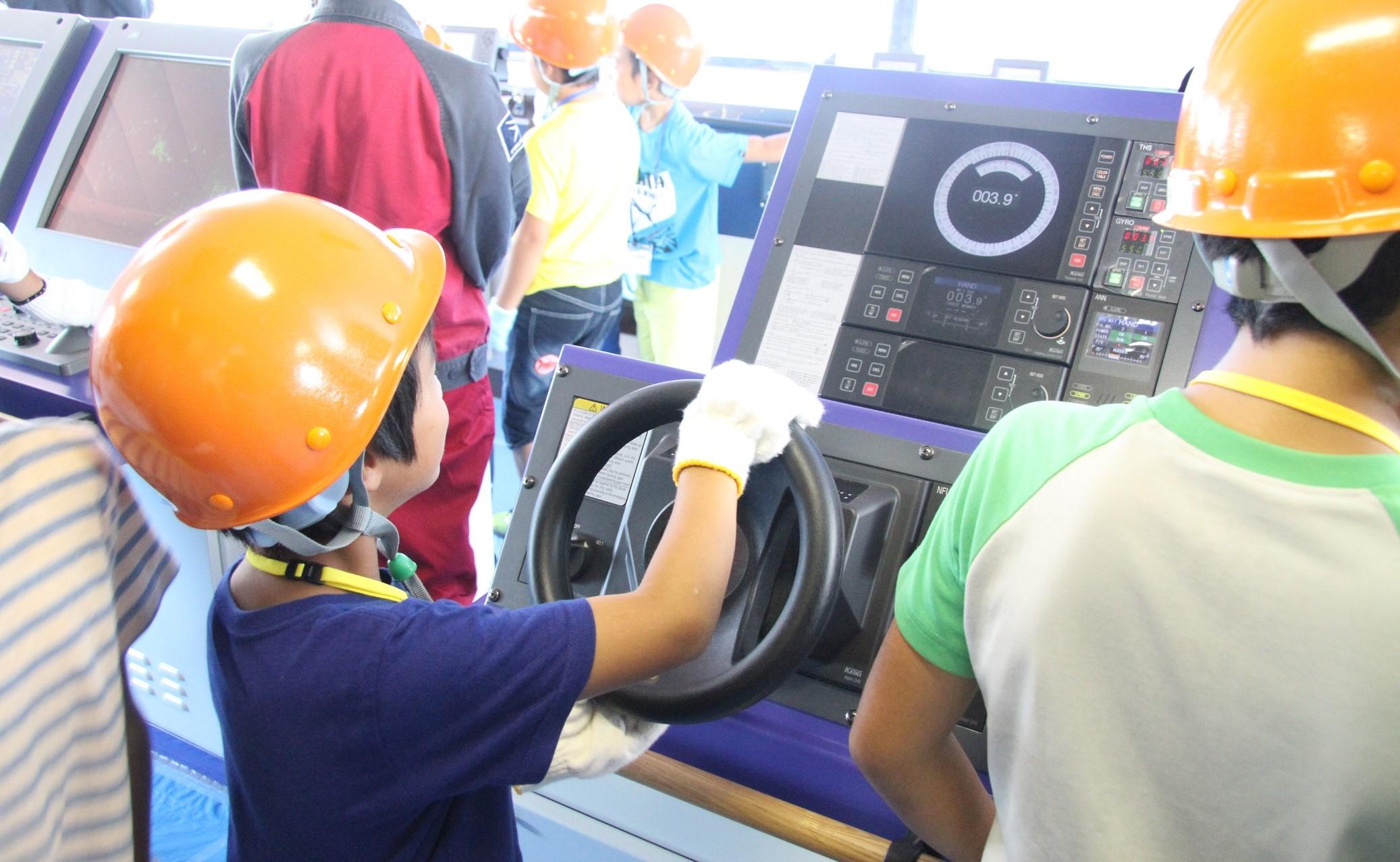 常石造船株式会社が「こども職場参観日」を開催