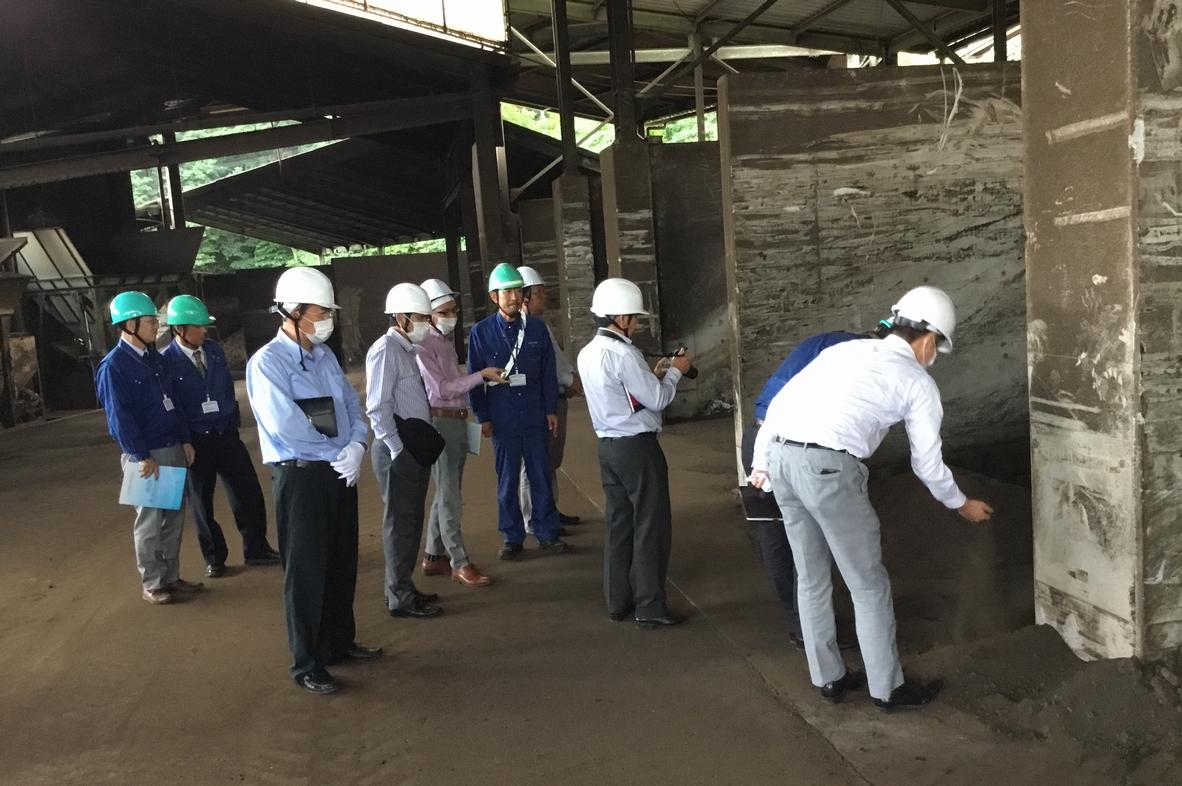 双葉三共のリサイクル技術をベトナム政府幹部が視察