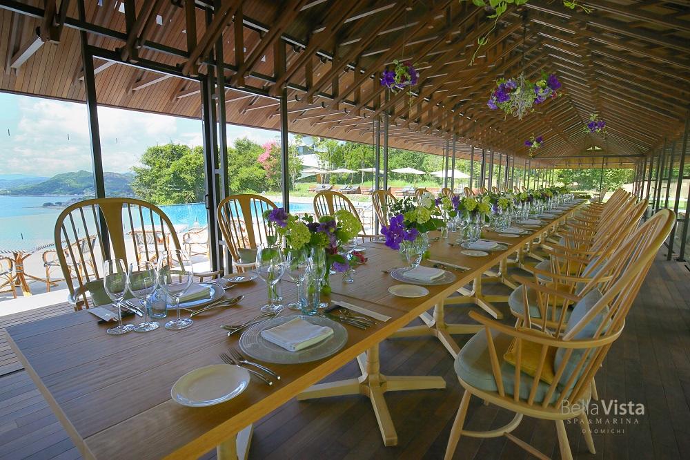 瀬戸内の真夏の美食─ エレテギアが織りなすモーションとブレイク、涼を運ぶ清夏のテーブルショー