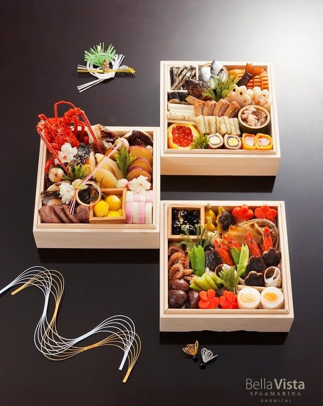 瀬戸内の滋味豊かな食資産が集結。ベラビスタの美しい御節「瀬戸内の恵み祝いおせち 三段重」の予約受付を開始!