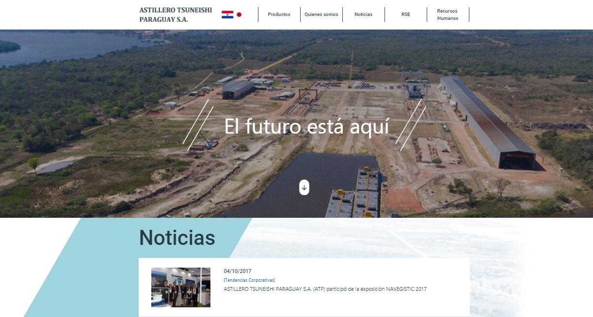 ASTILLERO TSUNEISHI PARAGUAY S.A. が自社ウェブサイトを新たにオープン!