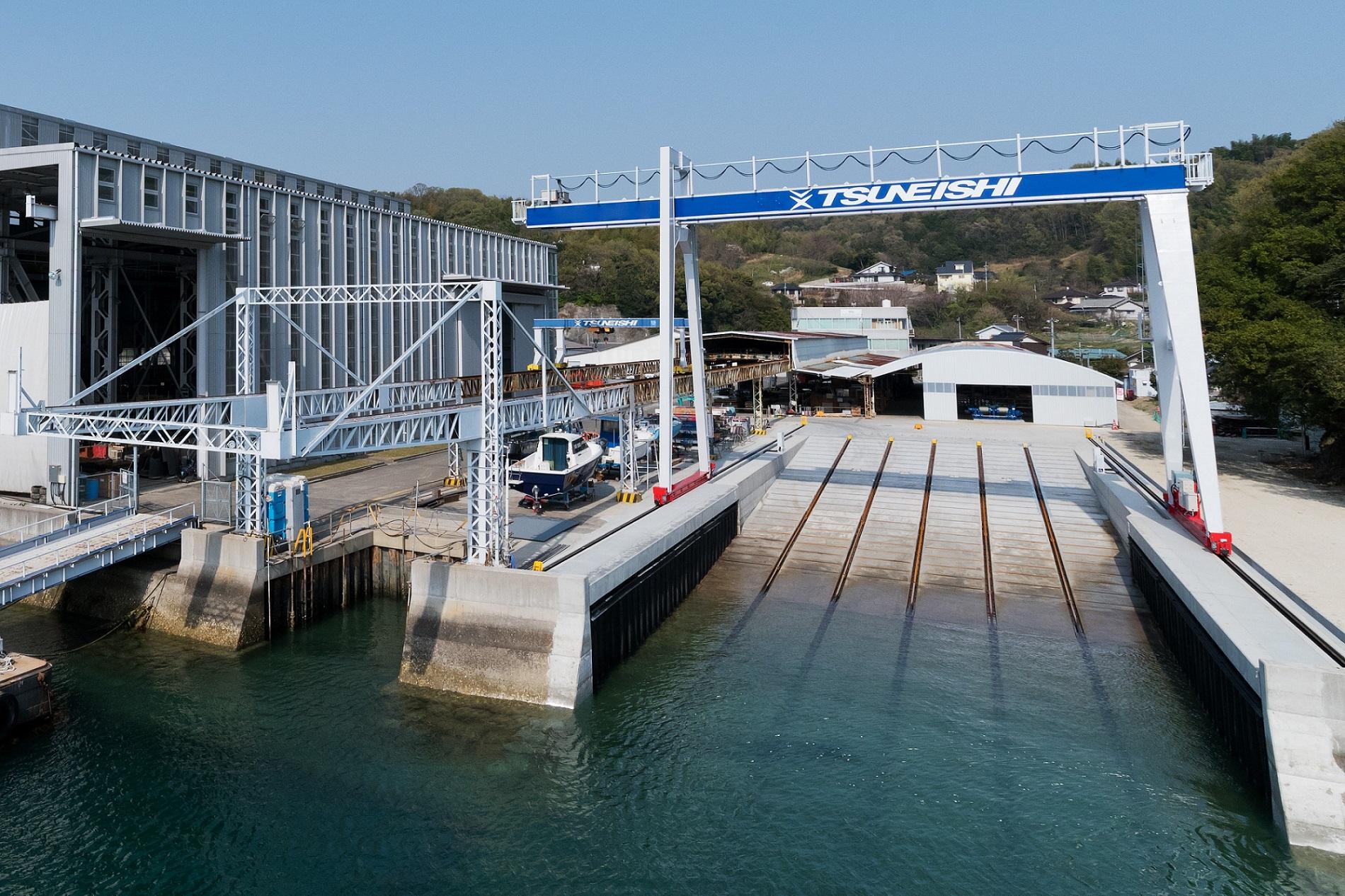 ツネイシクラフト&ファシリティーズ 引揚船台を新設しアルミ船舶の修繕事業を拡充