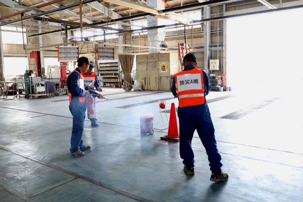 ツネイシCバリューズが消防訓練を実施 ~日頃から火災に備え、災害時に適切な行動を~