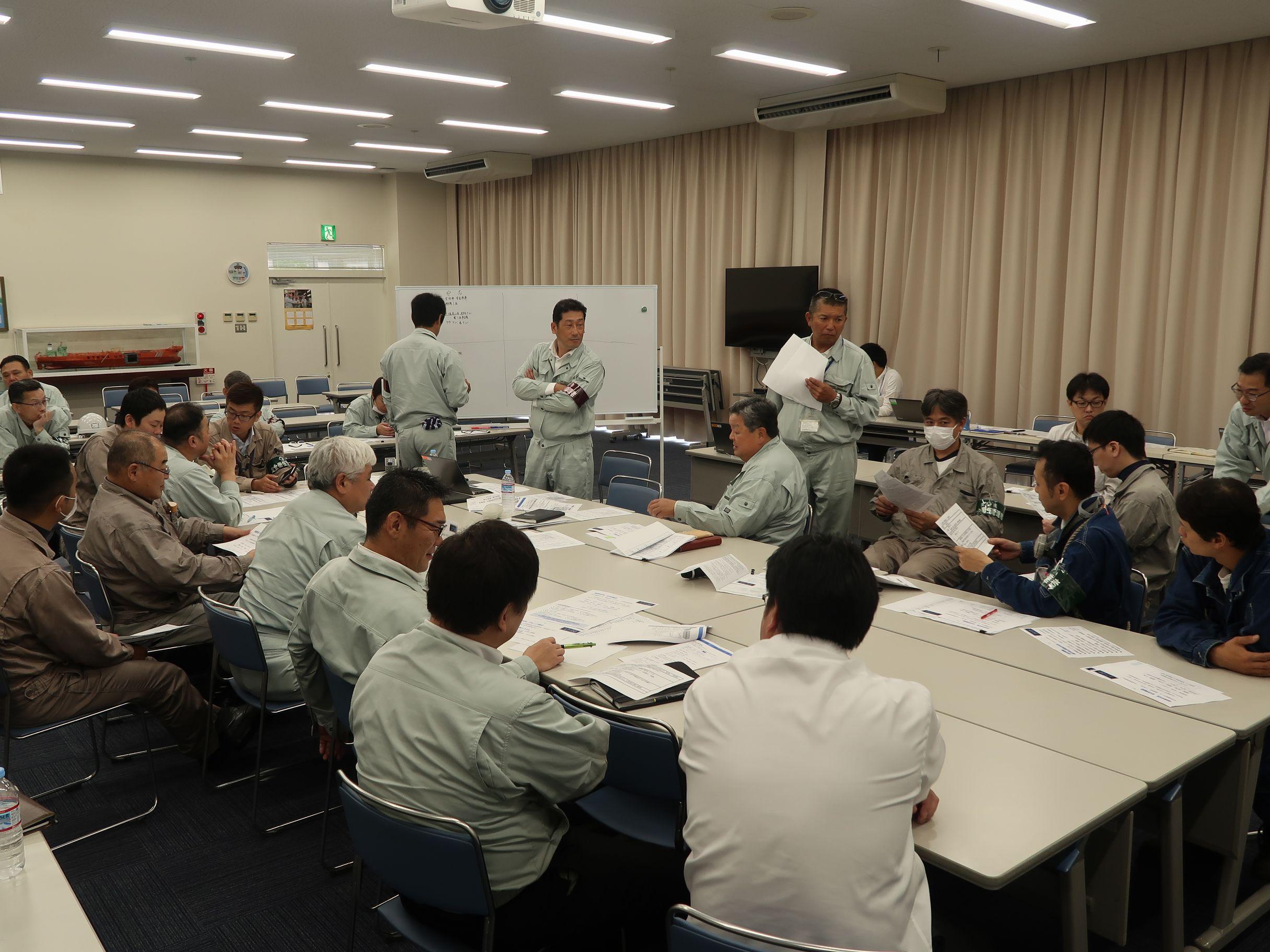 常石鉄工 事業継続マネジメント(BCM)による緊急危機対策本部の研修訓練を実施