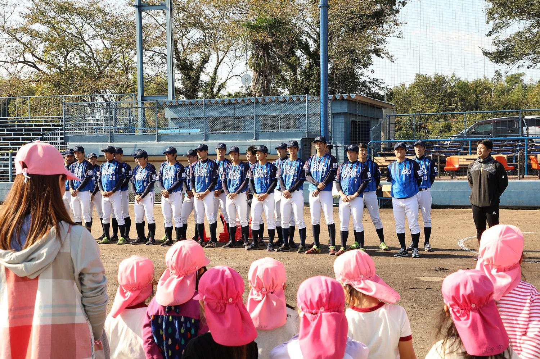 ツネイシブルーパイレーツがティーボール教室を開催するのは初めて