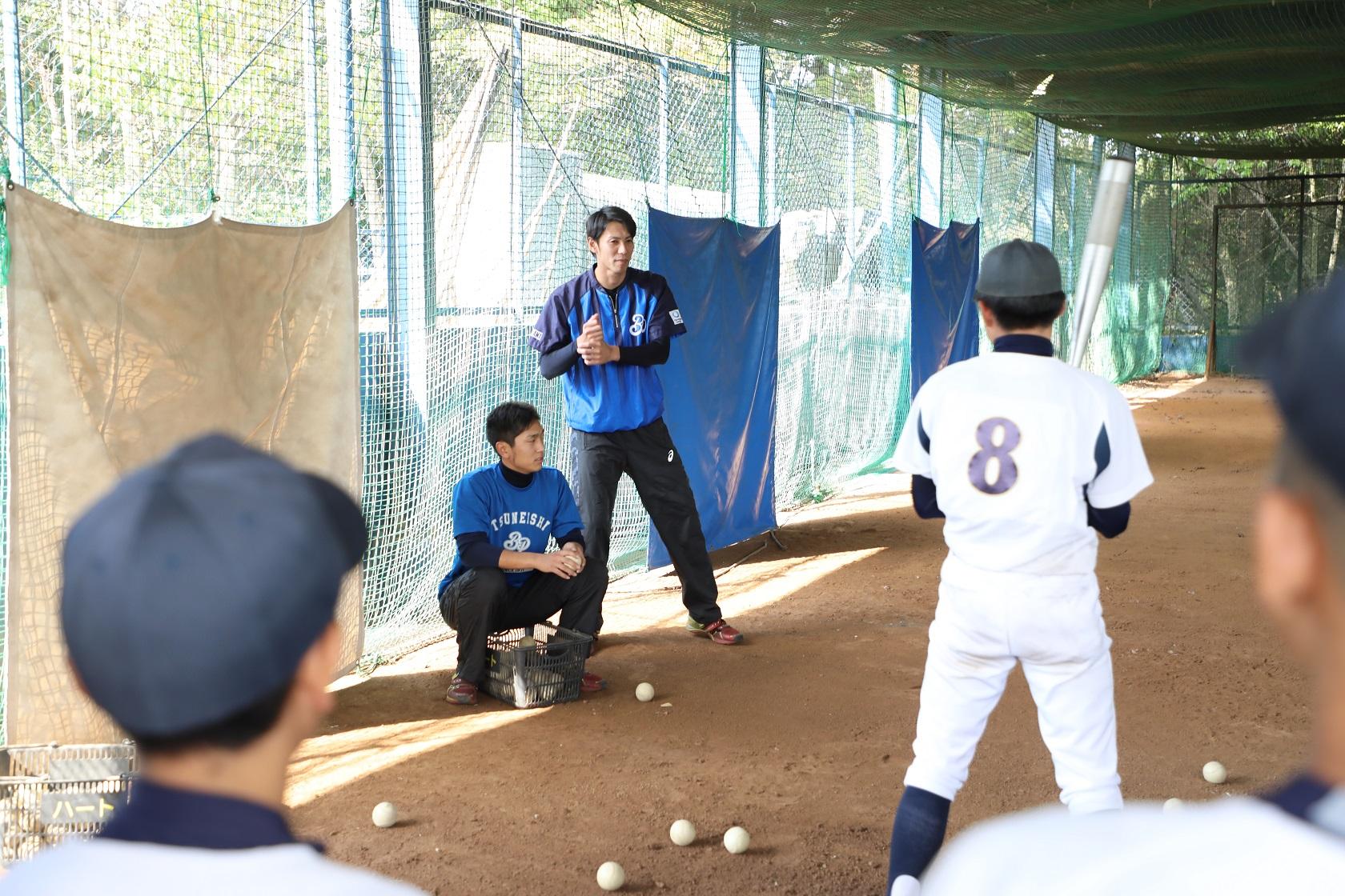 ツネイシブルーパイレーツによる野球教室も同時開催