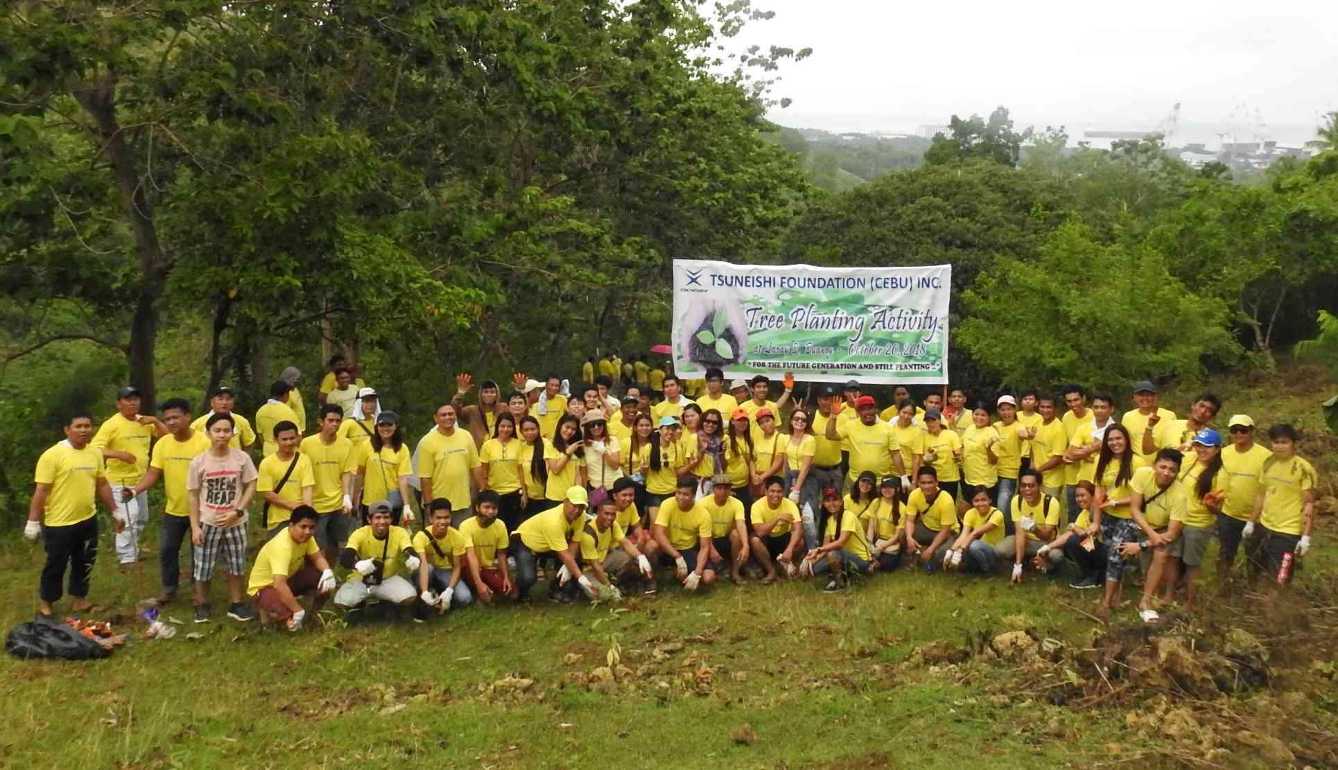 ツネイシセブ財団が第7回植樹活動を実施 ~豊かな自然環境を次世代につなぐ~