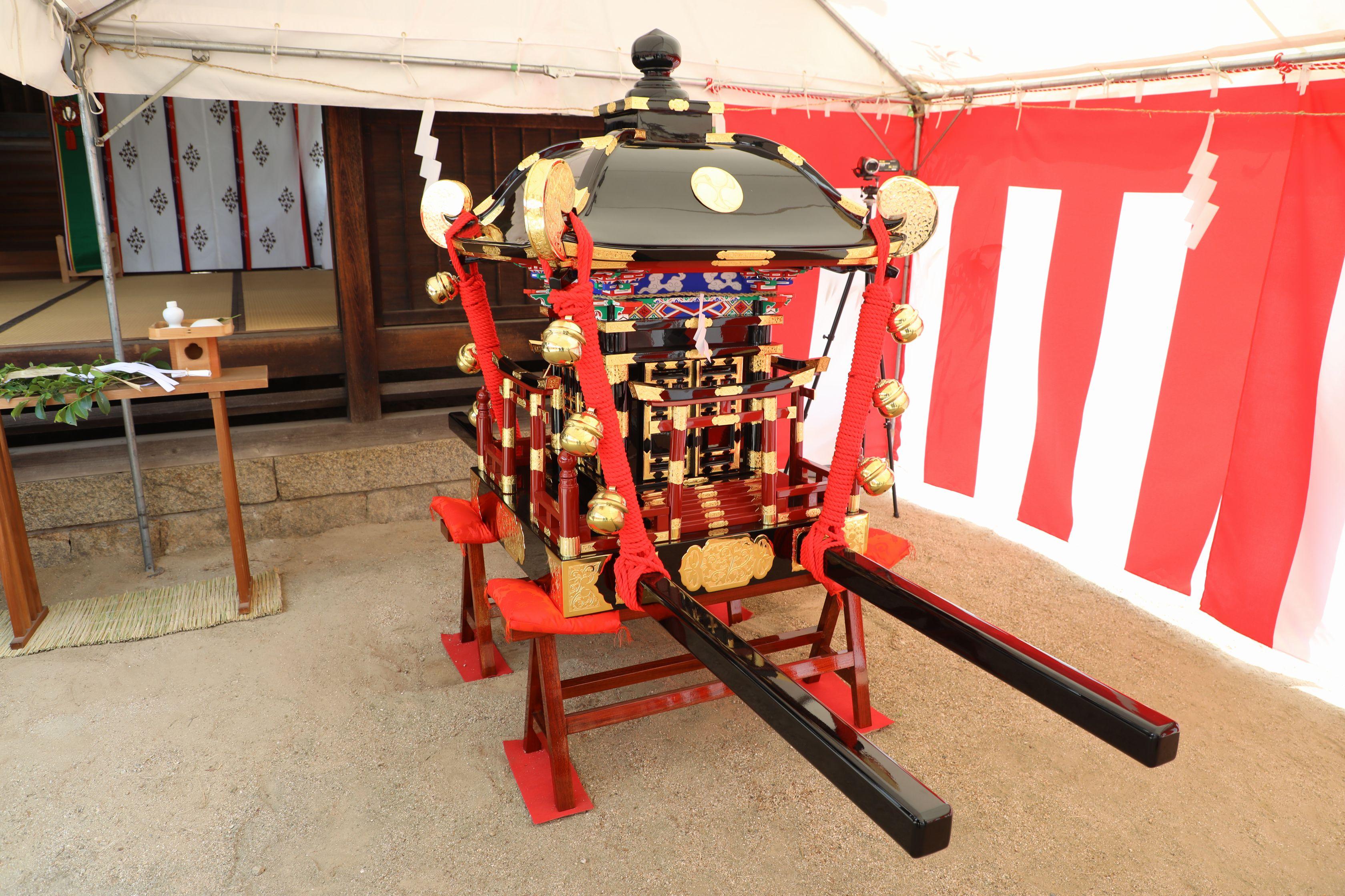 ツネイシみらい財団 日本・パラグアイ国交樹立100周年を記念した神輿の寄贈を支援