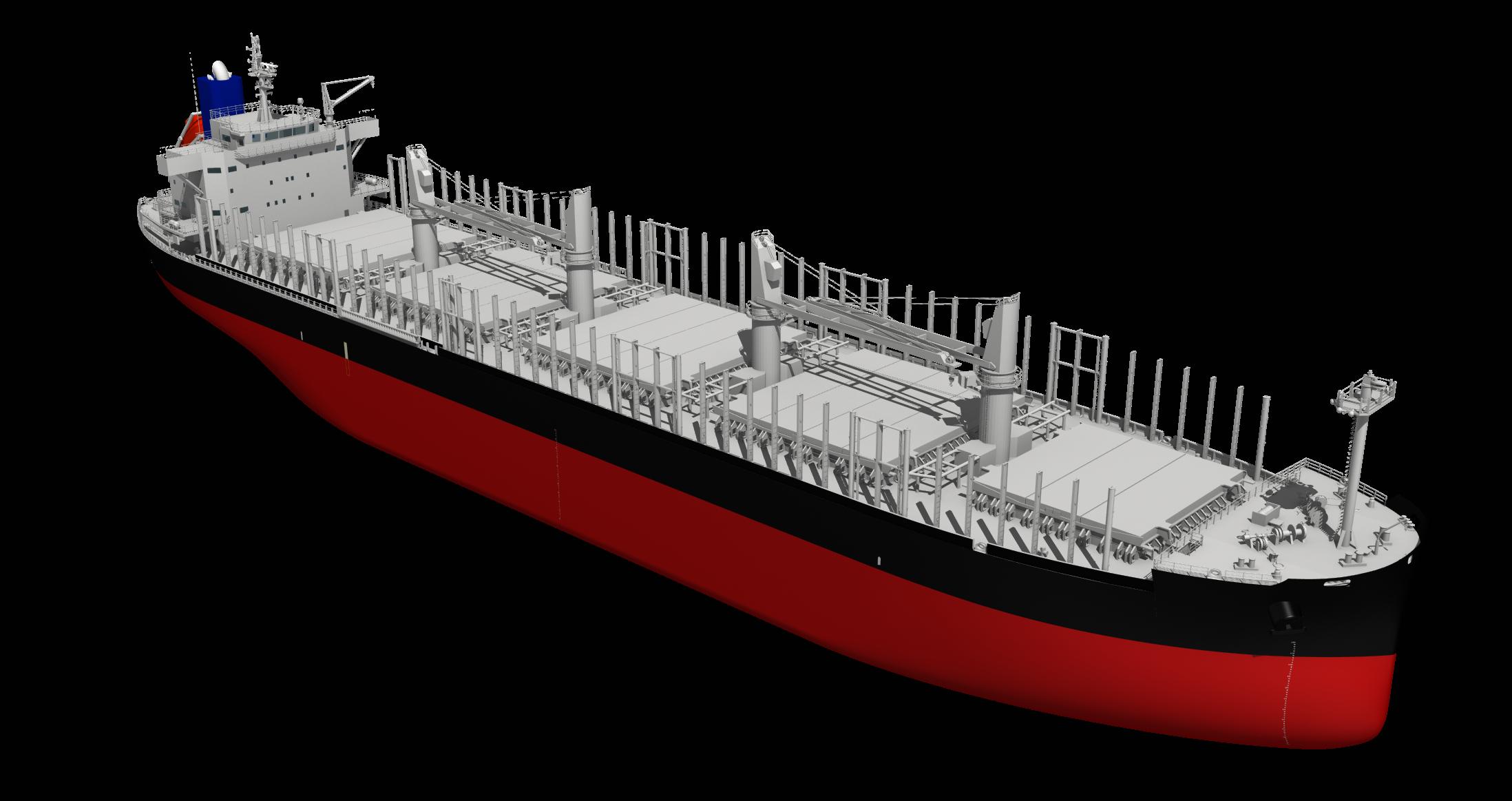 """新開発の4万2,000トン型木材およびばら積み貨物船""""TESS42"""" ~国内船主より初受注~"""