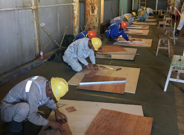 木工競技の様子