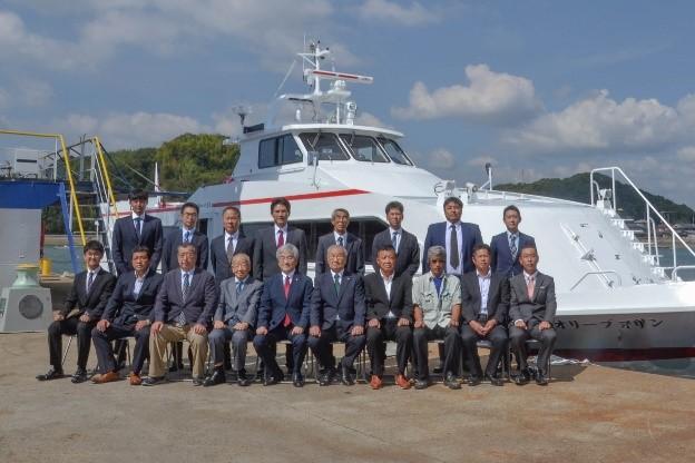 四国フェリー株式会社向け旅客船「オリーブマリン」引渡式