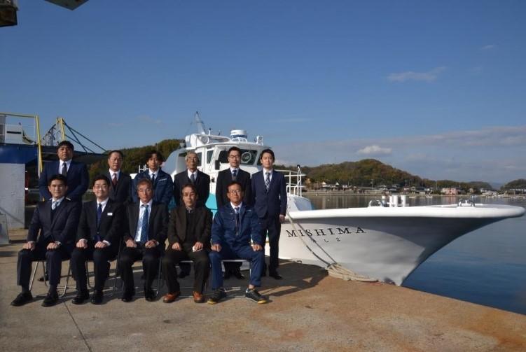 旅客船「みしま」引渡式