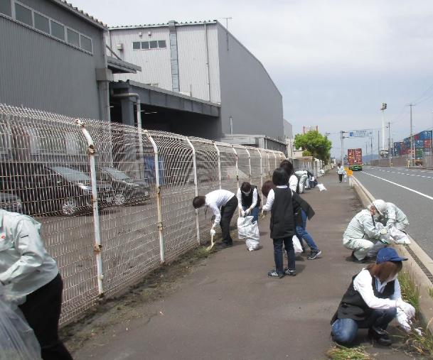 神原ロジスティクスが地域清掃活動を実施
