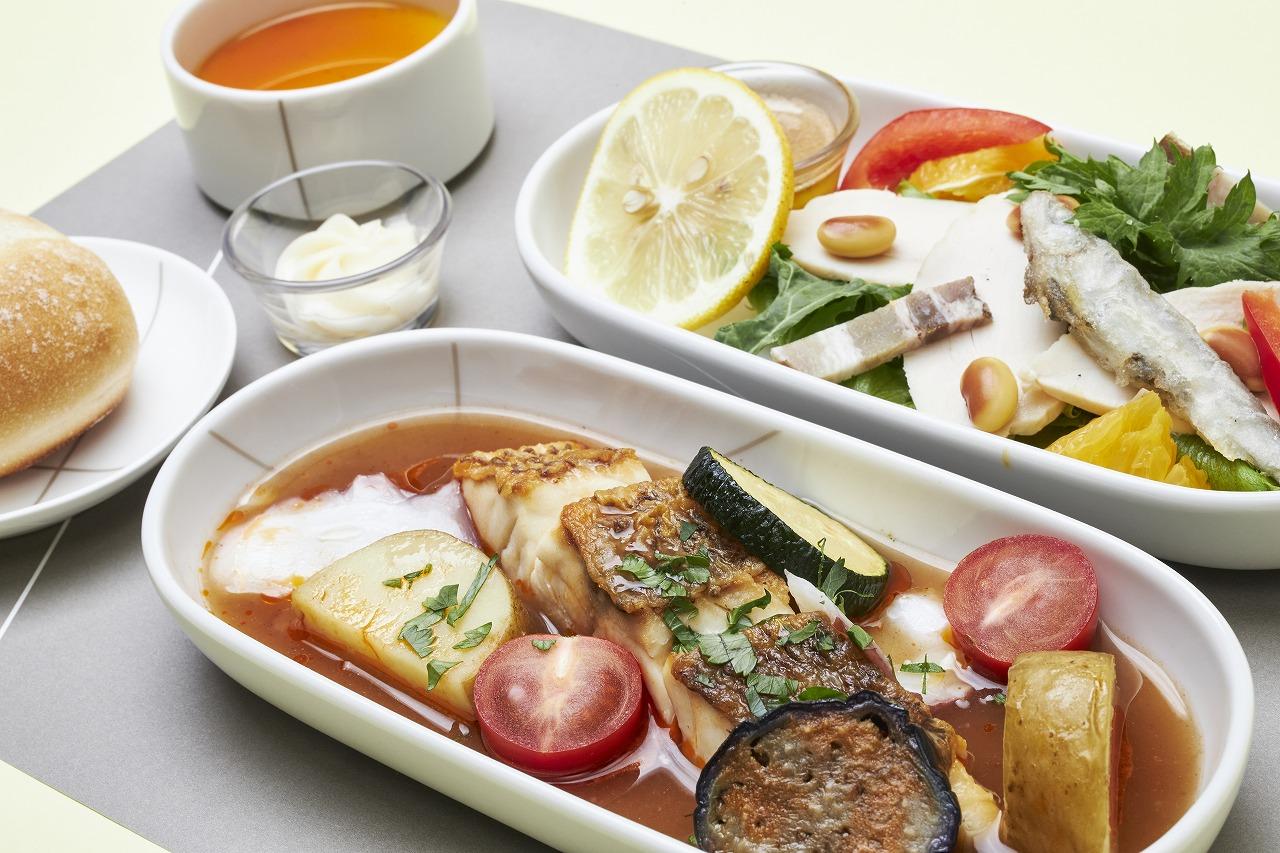 ベラビスタ「エレテギア」の瀬戸内美食が JAL国内線ファーストクラスの機内食に登場!