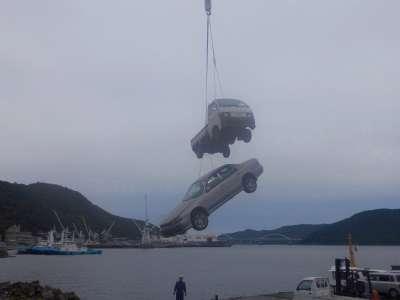 ツネイシCバリューズ、今年で18回目の離島支援活動~使用済み自動車回収~