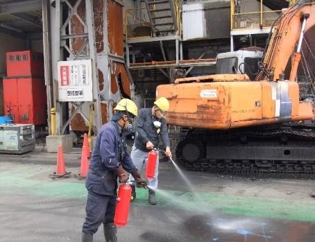 ツネイシカムテックスが消防訓練を実施 緊張感持って安全管理を強化