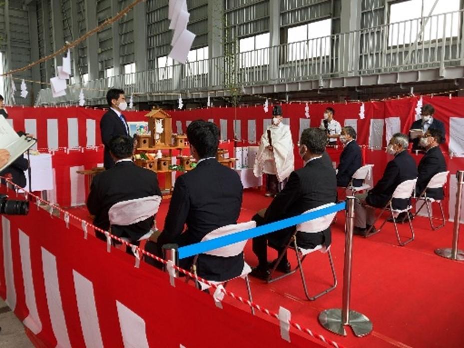 岩手県山田町のティエフシー 新造船、浄土ヶ浜遊覧船の起工式を実施